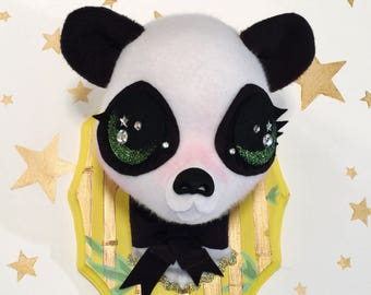 Panda Faux Taxidermy