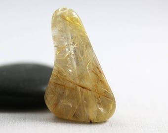 10% OFF SALE Golden Rutilated Quartz - Freeform Nugget - Rutilated Quartz - 32 mm Focal