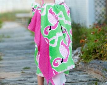 Flamingo Oversize Beach Towel-Monogram Towel-Pool-Bath