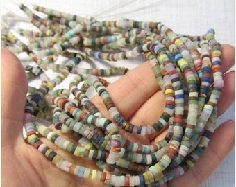 SALE 20% Off Rainbow Natural Gemstone 4mm Rondelle Beads, Amazonite, Turquoise, Lapis , Agate, Jasper, Chalcedony
