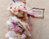 Confetti Cake white rainbow pom trim multi color flag twine Novelty Fiber Yarn Sampler Bundle