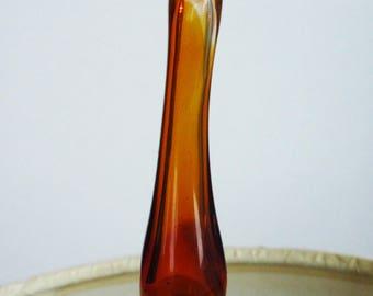 FINIAL - Handmade Venetian Glass Variety of Amber Venetian Glasses-Brass or Nickel Finial - Blown Glass Lamp Finial - Organic Shape