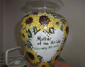 EMILY here is your custom listing  hand painted Custom Mother or the bride or groom gift  personalized Floral vase