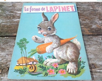 ON SALE Vintage 1970/70s French children's book La ferme de Lapinet