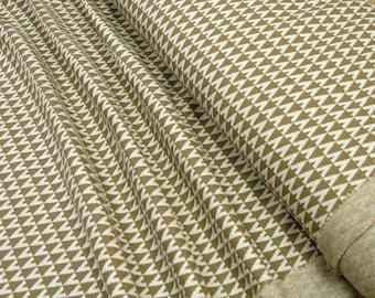 lillestoff Jacquard knitwear Triangle sand Organic-Cotton 0.54yd (0,5m) 003344