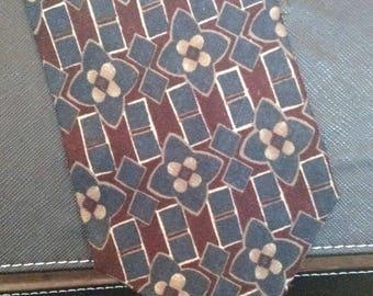 Spencer Lowe - Vintage Necktie - Geometric Print - Free U.S. Shipping