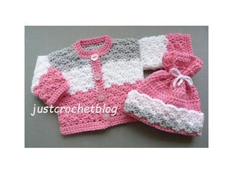 Crochet Dolls Coat and Hat Crochet Pattern (DOWNLOAD) 81BFJC