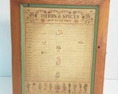 Vintage wooden herbs and spices box vintage herbs spices box kitchen how to use them