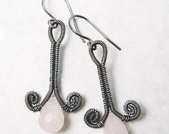 Sale, 15% Off - Rosebud Earrings Wire Woven EarringsTutorial