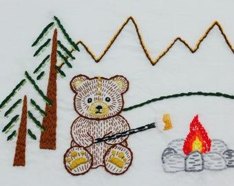 Teddy Bear Embroidery Design Bear Embroidery Pattern Teddy Bear Design Hand Embroidery Design