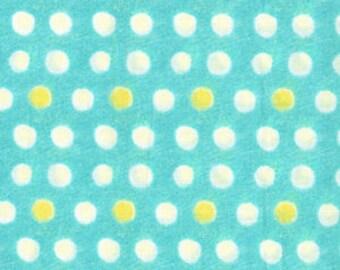 Michael Miller Fabric Painted Dots in Aqua 1 Fat Quarter by Laura Gunn