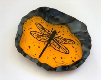 Dragonfly in Amber - Outlander - Laser Cut Acrylic Brooch