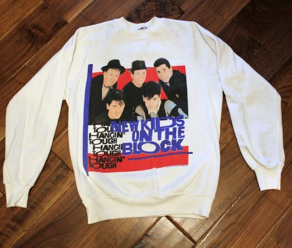 1989 New Kids On The Block Sweatshirt, Hangin Tough Tour