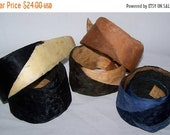 ON SALE Vintage Millinery Feather Hat Band  Trim NOS  #3483