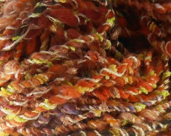 Feu de Joie: handspun art yarn
