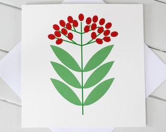 Simple Scandi Christmas Berries Xmas Blank Card