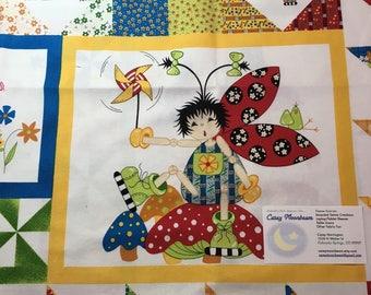 Lady Bug Hugs Fabric Panel