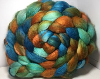 ReSeRVE Shawlnsockho Merino/Baby Camel/Tussah 60/20/20 Roving Combed Top - 5oz - Copper Sea 1