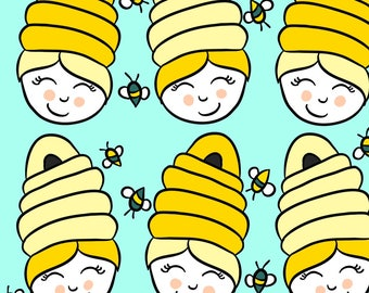 Beehive Hair Fabric - Beehive Hair By Cozyreverie - Beehive Hair Cotton Fabric By The Yard With Spoonflower