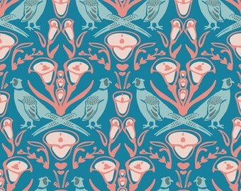 Pheasant Damask Fabric - Damask Pheasants By Lburleighdesigns - Pheasant Damask Home Decor Cotton Fabric By The Yard With Spoonflower