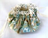 Medium Size Jewelry Bag with 16 Pockets and Custom Fabrics.