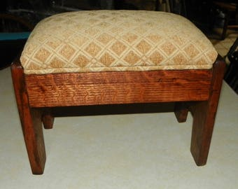 Solid Quartersawn Oak Arts & Crafts Footstool / Stool (RP)