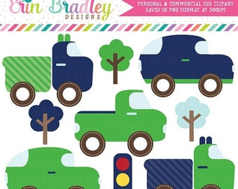 80% OFF SALE Cars and Trucks Clipart Boys Transportation Clip Art Graphics Set Commercial Use OK