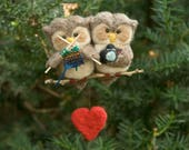 Needle Felted Owl Couple - Knitter and Photographer