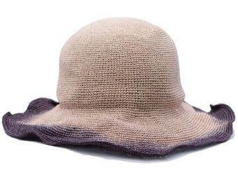Floppy Straw Hat Packable Sun Hat Beach Hat Wide Brimmed Straw Hat Crushable Hat Travel Hat Summer Style Summer Accessory Shapeable Hat