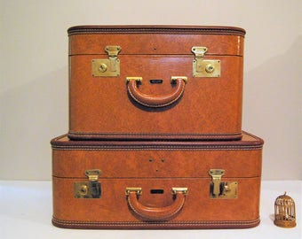 Luggage Two Piece Antique Loyal New York