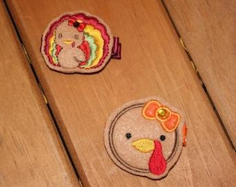 SALE - Choose a Turkey Hair Clip, Your Choice