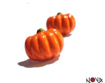 * Earrings * Halloween Pumpkins chips