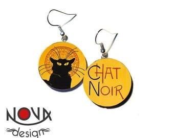 Chat Noir Asimmetrique Montmartre - Earrings