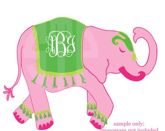 New! Pink Elephant Clip Art (Instant Download)