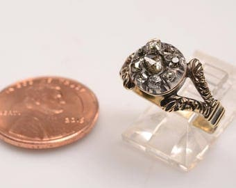 Victorian 14kt Rose Diamond Ring - Size:  5.5