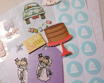 Ephemera Scrapbook Supplies Project Life Wedding Theme Scrap Pack Inspiration Kit Scrapbook Pages