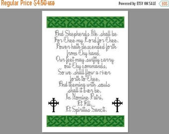 Christmas in July Boondock Saints Shepherd Prayer Cross Stitch PDF PATTERN ONLY