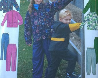 Simplicity 8342 Childrens Fleece Coat Pants Pattern Size NN 8 to 14 Fleece pattern Boys fleece pattern