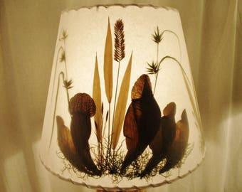 Pitcher Plant Lamp Shade, Pressed Botanical Lampshade, Carnivorous Plant, Wetlands Grass, Washer Top Lampshade, Pressed Sarracenia Purporea