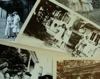 ONSALE Wonderful Antique Edwardian Black and White Photo Lot N0621