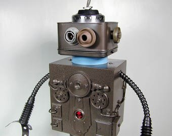 OMEGA Found Object  Robot Sculpture  Assemblage