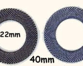 BRASS MESH RINGS 40MM Oval--One Mesh Ring