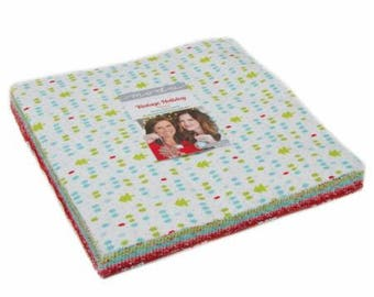 PRESIDENTS DAY SALE - Flannel Layer Cake - Vintage Holiday - Bonnie and Camille for Moda Fabrics
