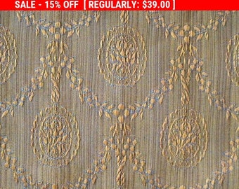 Antique Silk Fabric Damask French