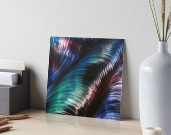 Encaustic Northern Lights Shimmer Art Board / Art for Small Spaces / Collectible Small Format Art / Made to Order in 3 Sizes