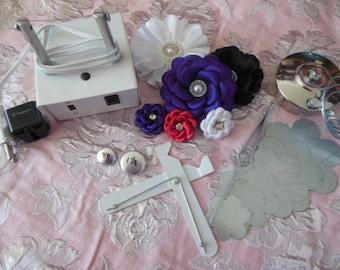 Ultimate flower machine, singe, burn, and cut kit. Ribbon Cutter, wedding flowers, bouquet flower, flower kit, singed flower, DIY flower