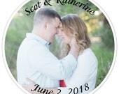 Custom Wedding Photo Stickers - 2 INCH
