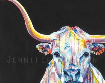 Sonny the Longhorn Canvas Gallery Wrap Print