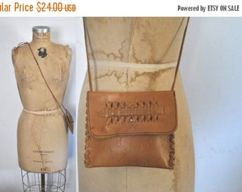 SALE Leather Pouch Brown Bag / wallet purse