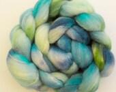 Shetland  Silk, Hand dyed roving, Fiber, hand dyed fibre, spindling, Tussah silk, needle felting, felting materials, felting projects